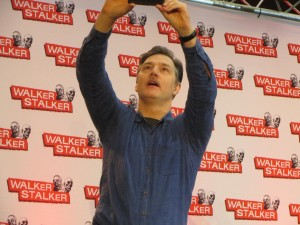 David Morrissey a.k.a. The Governor making time for a stage selfie!